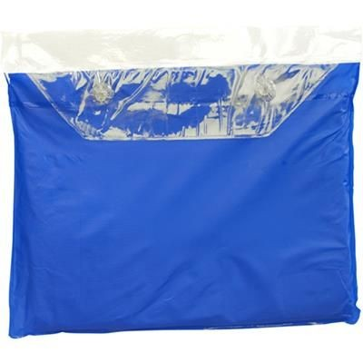 Picture of VINYL RAIN PONCHO with Hood in Blue