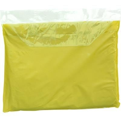 Picture of VINYL RAIN PONCHO with Hood in Yellow