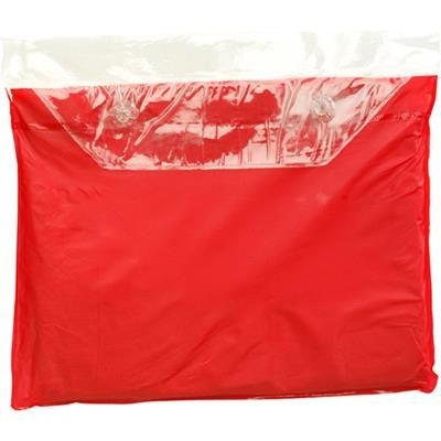 Picture of VINYL RAIN PONCHO with Hood in Red