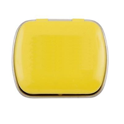 Picture of MINI HINGED TIN with Extra Strong Mints in Orange