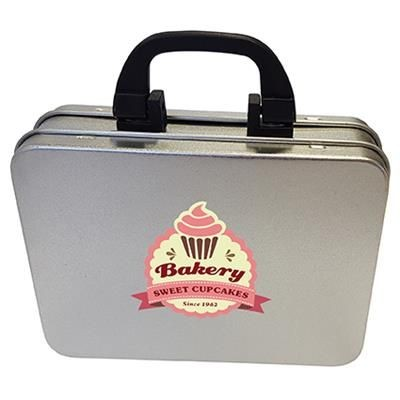 Picture of SUITCASE TIN with Approximately 100g of Chocos