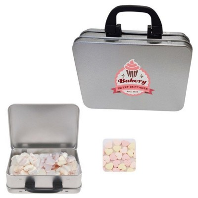 Picture of SUITCASE TIN with Small Hearts
