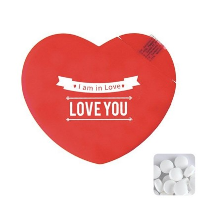 Picture of HEART MINTS DISPENSER in Red