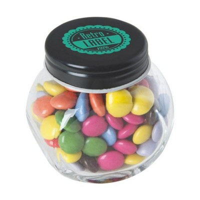 Picture of SMALL GLASS JAR with Milk Chocos