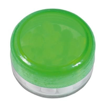 Picture of ROUND PLASTIC CONTAINER with 12g of Mints in Pale Green