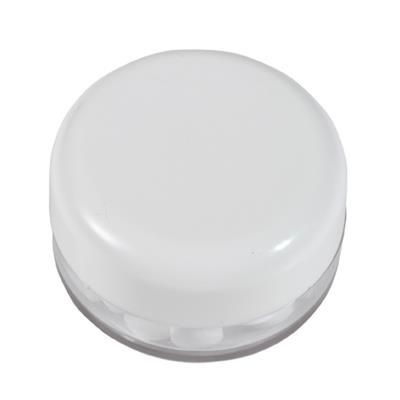 Picture of ROUND PLASTIC CONTAINER with 12g of Mints in White