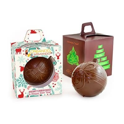 Picture of CHOCOLATE BAUBLE in Box with Grip