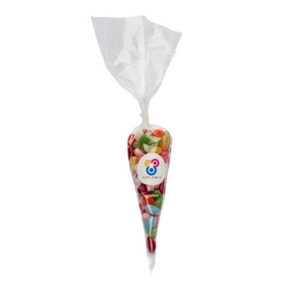 Picture of 200GR SWEETS CONES with Printed Label & Filled with Jelly Beans
