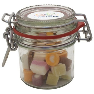 Picture of 125ML & 295GR GLASS JAR FILLED with Dolly Mixtures