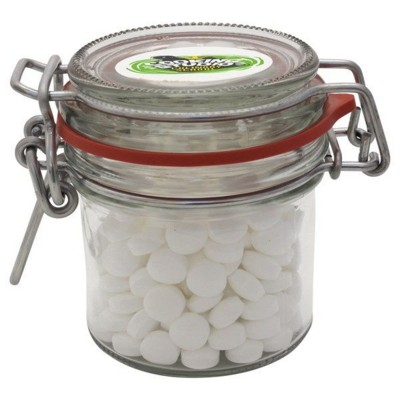 Picture of 125ML & 295GR GLASS JAR FILLED with Dextrose Mints