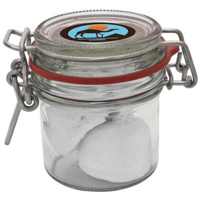 Picture of 125ML & 235GR GLASS JAR FILLED with Marshmallows