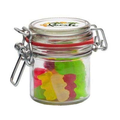 Picture of 125ML & 280GR GLASS JAR FILLED with Gummy Bears