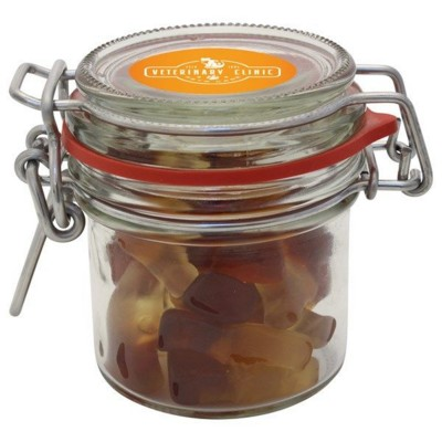 Picture of 125ML & 275GR GLASS JAR FILLED with Haribo Cola Bottles