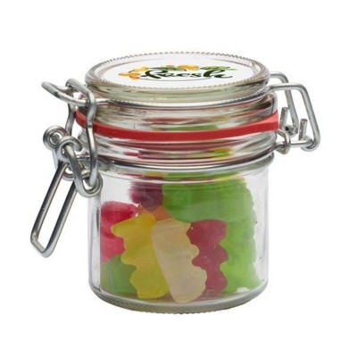 Picture of 125ML & 280GR GLASS JAR FILLED with Haribo Gold Bears