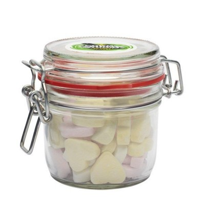 Picture of 255ML & 490GR GLASS JAR FILLED with Hearts Small