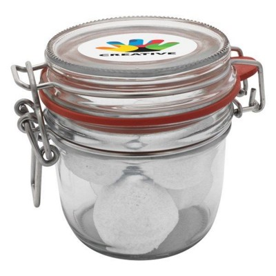 Picture of 255ML & 375GR GLASS JAR FILLED with Marshmallows