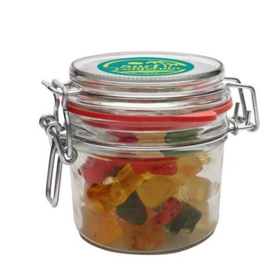 Picture of 255ML & 475GR GLASS JAR FILLED with Gummy Bears