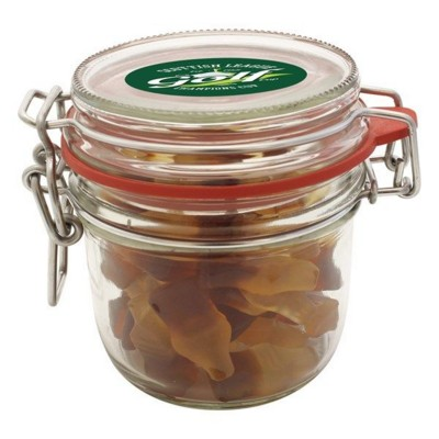 Picture of 255ML & 470GR GLASS JAR FILLED with Haribo Cola Bottles