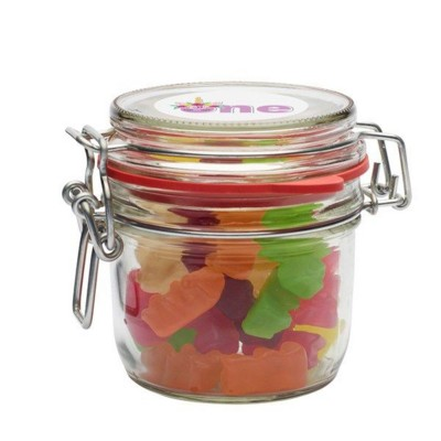 Picture of 255ML & 475GR GLASS JAR FILLED with Haribo Gold Bears