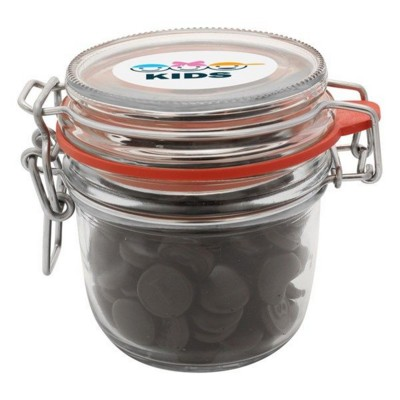 Picture of 255ML & 470GR GLASS JAR FILLED with Haribo Liquorice