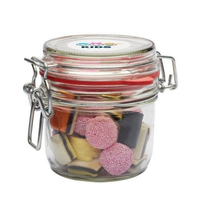 Picture of 255ML & 450GR GLASS JAR FILLED with Liquorice Allsorts