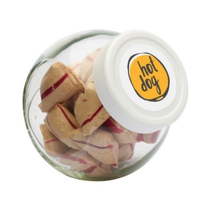 Picture of 395ML & 415GR CANDY JAR with White Plastic Lid & Filled with Cinnamon Pads