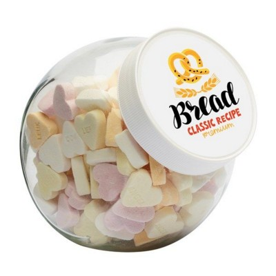 Picture of 870ML & 970GR CANDY JAR FILLED with Sugar Hearts