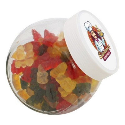 Picture of 870ML & 940GR CANDY JAR FILLED with Gummy Bears