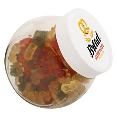 Picture of 870ML & 940GR CANDY JAR FILLED with Haribo Gold Bears