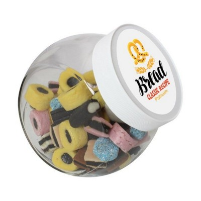 Picture of 870ML & 950GR CANDY JAR FILLED with Liquorice Allsorts