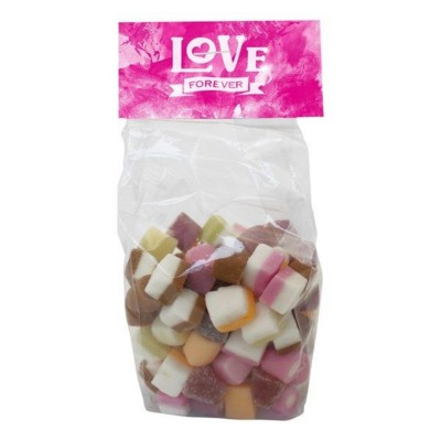 Picture of 100GR BAG with a Card Base & Printed Header Board Filled with Dolly Mixtures
