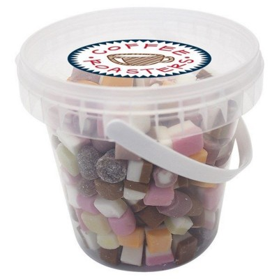 Picture of 490GR PLASTIC BUCKET FILLED with Dolly Mixtures