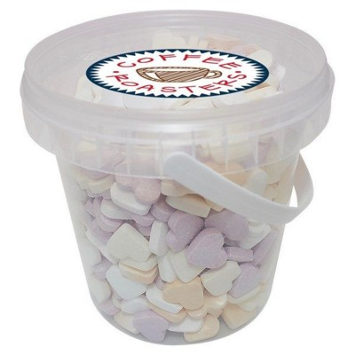 Picture of 500GR PLASTIC BUCKET FILLED with Hearts Small