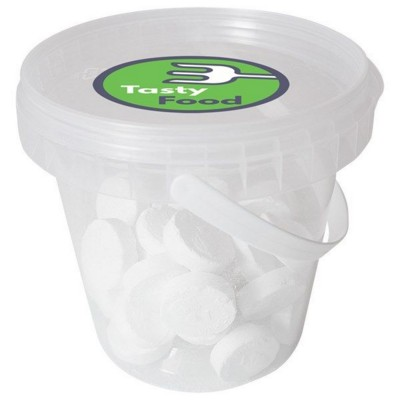 Picture of 510GR PLASTIC BUCKET FILLED with Peppermints