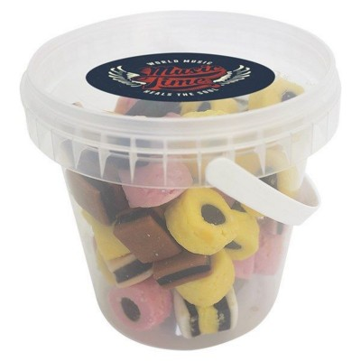 Picture of 450GR PLASTIC BUCKET FILLED with Liquorice Allsorts