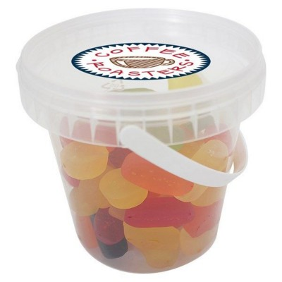 Picture of 495GR PLASTIC BUCKET FILLED with Wine Gums