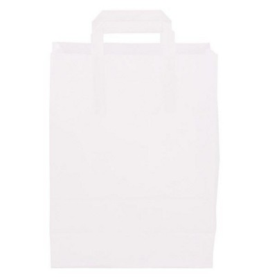 Picture of PAPER BAG, FLAT HANDLE 220 x 280 x 100 MM