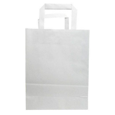 Picture of BUDGET PAPER BAG, FLAT HANDLES - 180 x 80 x 120 MM