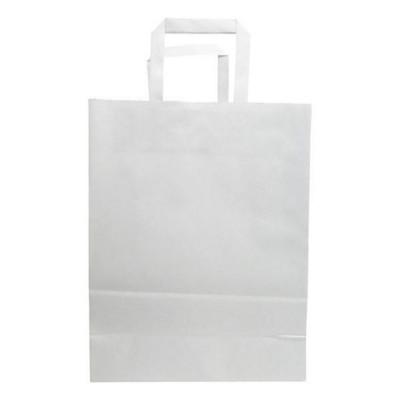Picture of BUDGET PAPER BAG, FLAT HANDLES - 250 x 110 x 320 MM