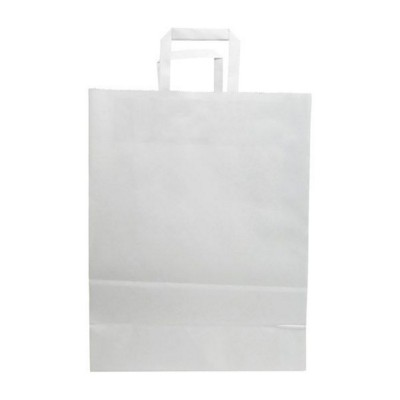Picture of BUDGET PAPER BAG, FLAT HANDLES - 320 x 170 x 390 MM
