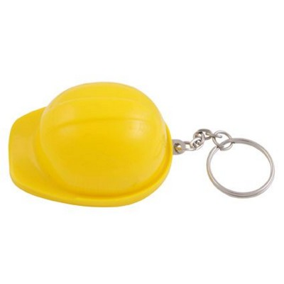 Picture of HARD HAT BOTTLE OPENER AND KEYRING CHAIN in Yellow