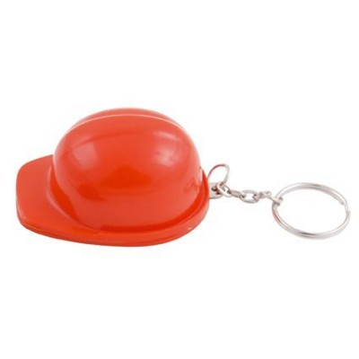 Picture of HARD HAT BOTTLE OPENER AND KEYRING CHAIN in Red