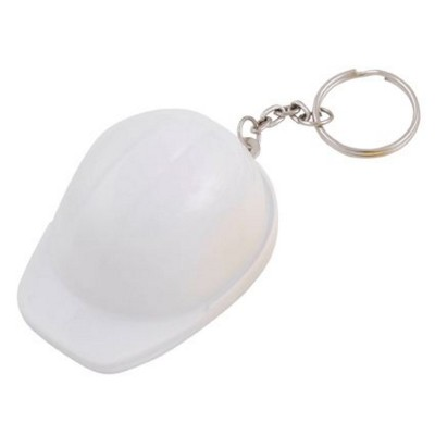 Picture of HARD HAT BOTTLE OPENER AND KEYRING CHAIN in White