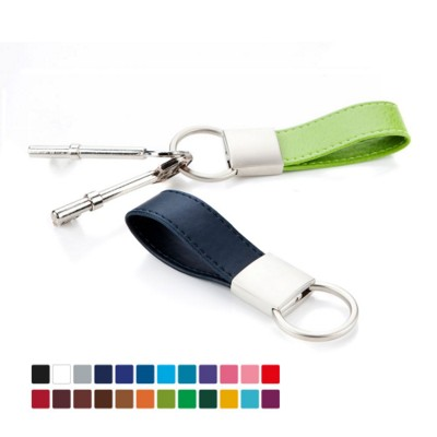 Picture of BELLUNO PU MINI LOOP KEYRING FOB with Twist Action Ring
