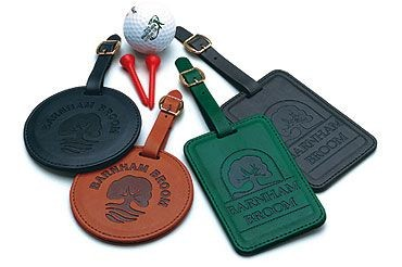 Picture of ROUND BELLUNO PU GOLF BAG TAG in Leatherette