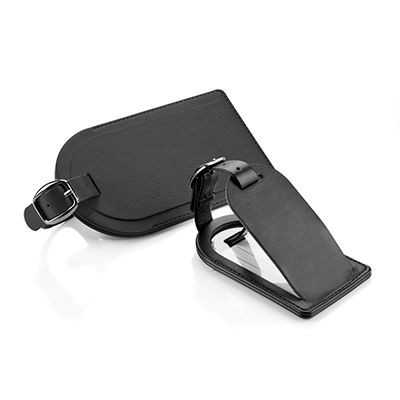 Picture of LARGE LUGGAGE TAG in Black Belluno PU Leather