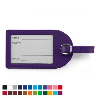 Picture of LARGE LUGGAGE TAG in Belluno PU Leather