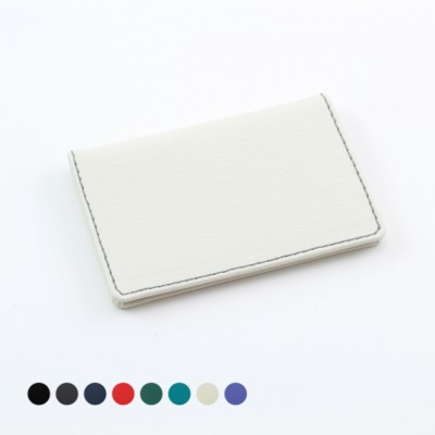 Picture of LEATHER CARD CASE with Two Raw Cut E Leather Pockets