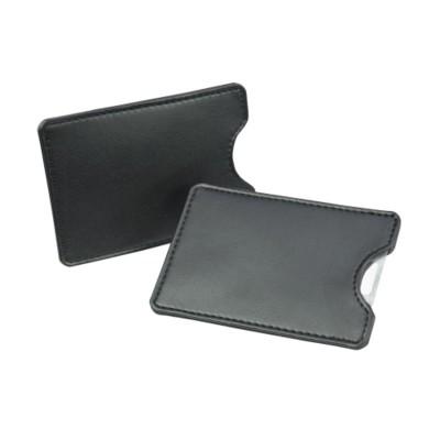 Picture of CREDIT CARD SLIP CASE in Black Belluno PU Leather