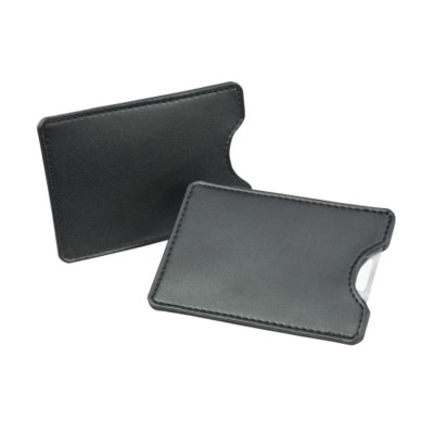 Picture of CREDIT CARD SLIP CASE in Black Belluno PU Leather